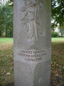 Alberto Adriano memorial in Stadtpark Dessau